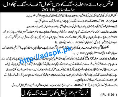 How to Apply School of Nursing Chakwal Admissions Open