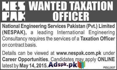 Job Opportunities in NESPAK Pvt. Limited for Taxation