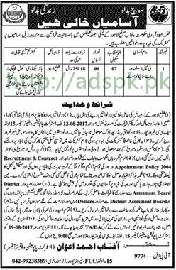 Jobs Population Welfare Department Lahore Punjab Jobs 2017 Female Assistant Psychologist Jobs Application Deadline 12-08-2017 Apply Now