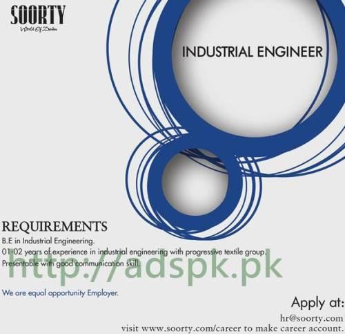 Jobs Soorty Industrial Engineer Jobs 2017 Eligibility B.E Industrial Engineering Apply Online Now