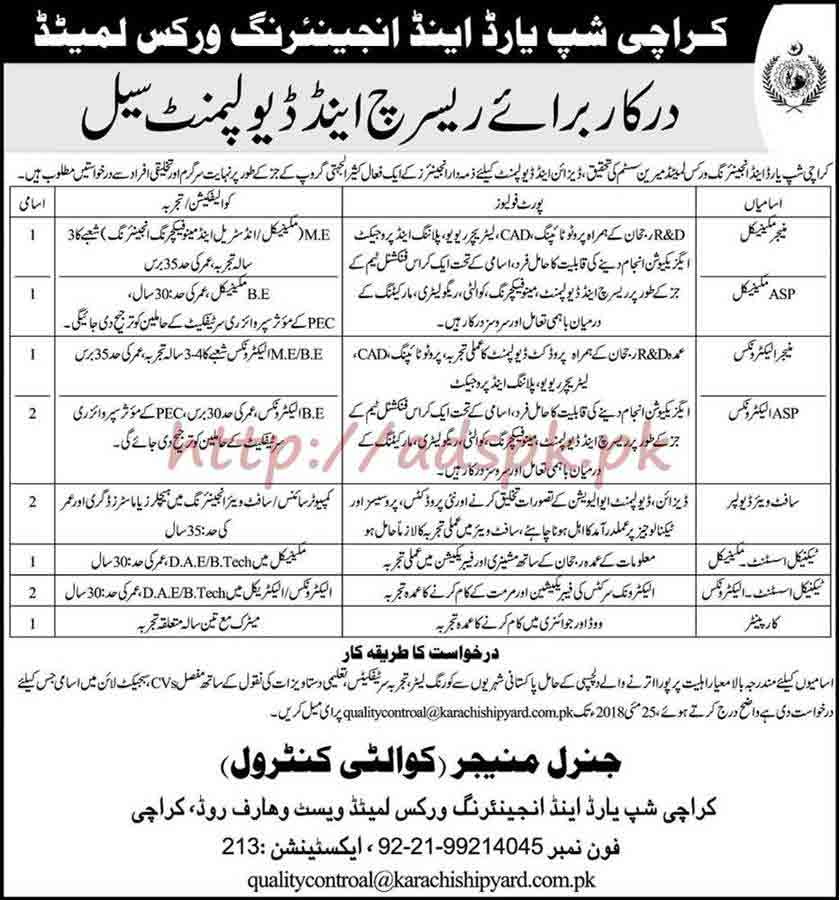 Karachi Shipyard & Engineering Works Limited Research
