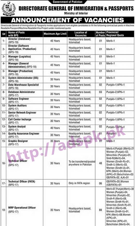 NTS New Career Excellent Jobs Directorate General of