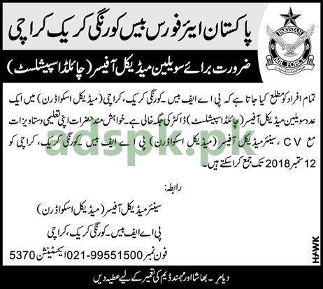 Pakistan Air Force Base Korangi Creek Civilian Jobs