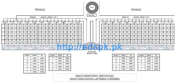 SPSC Latest Written Test Seating Plan Map (Male-Female