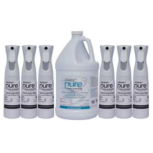 PURE 1 Gallon Kit (6 Spray Bottles) Kill Coronavirus