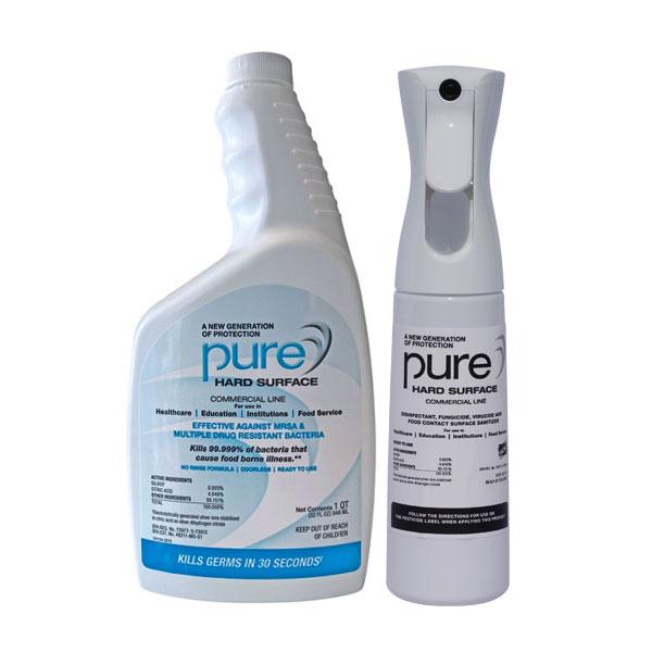 PURE Hard Surface Disinfectant 32oz quart+1-Spray Kill Coronavirus