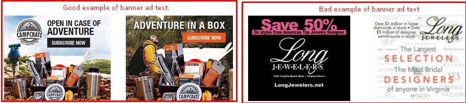 Example of banner ad text