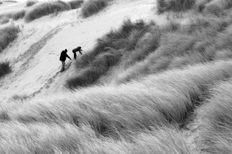 Dune escalade père et fils