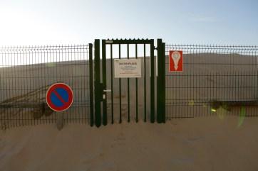 Porte ensablée