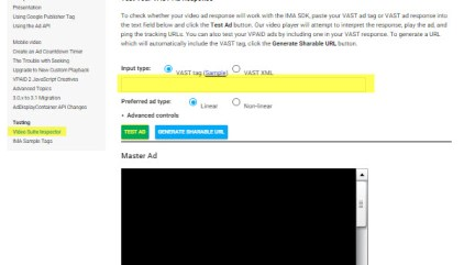 VAST-VPAID Test Ad Tag Example