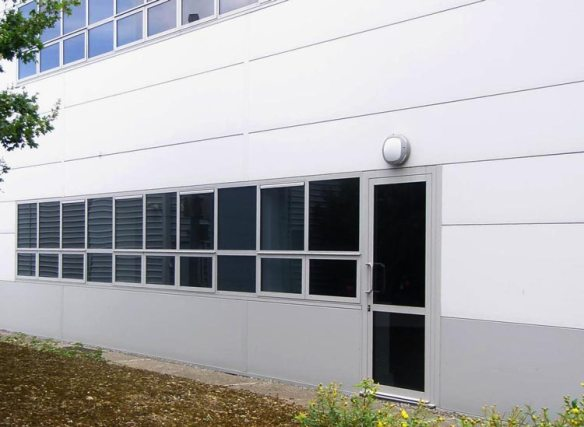 AMS TS 66 Integrated windows into kingspan 80mm composite panels