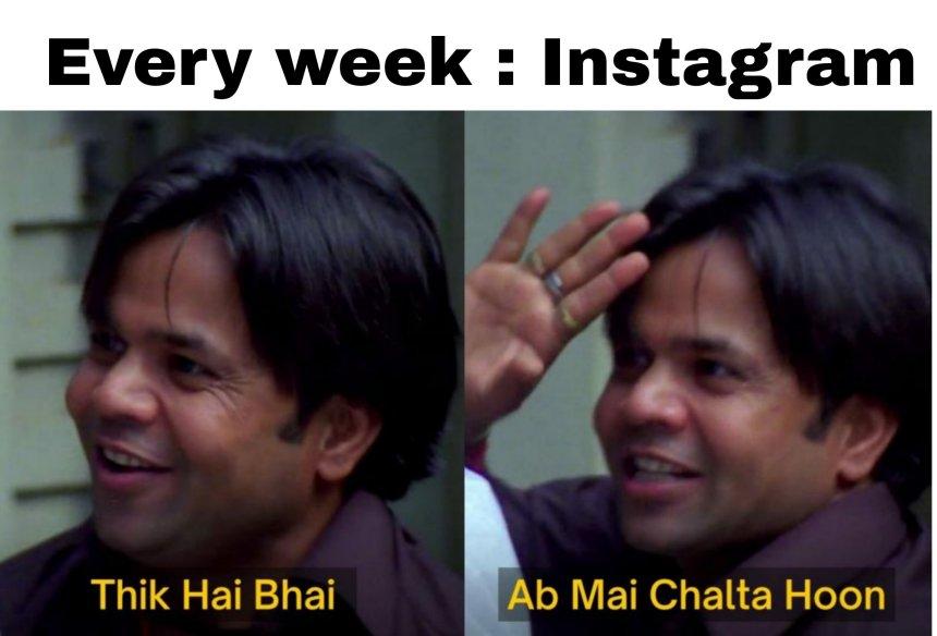 Instagram shut down Memes