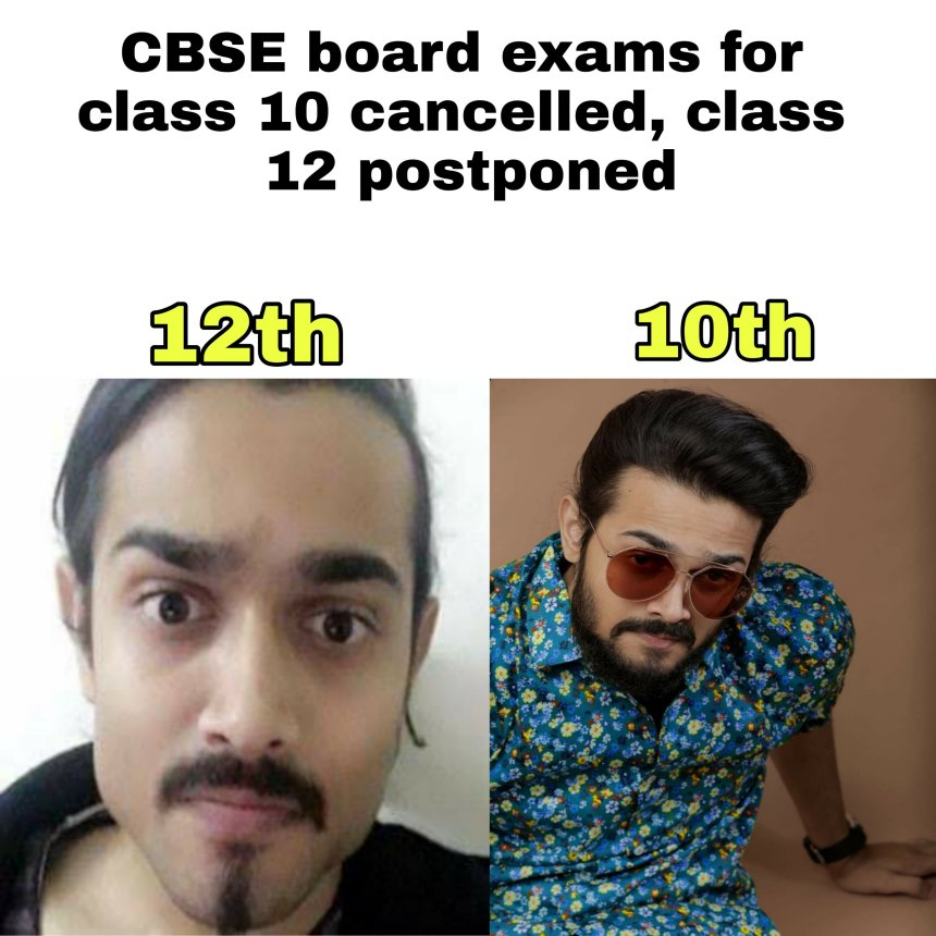 CBSE Board cancelled exam memes