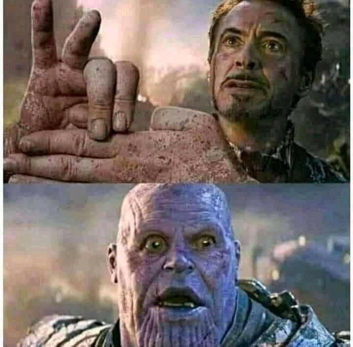 Iron man meme and Thanos memes