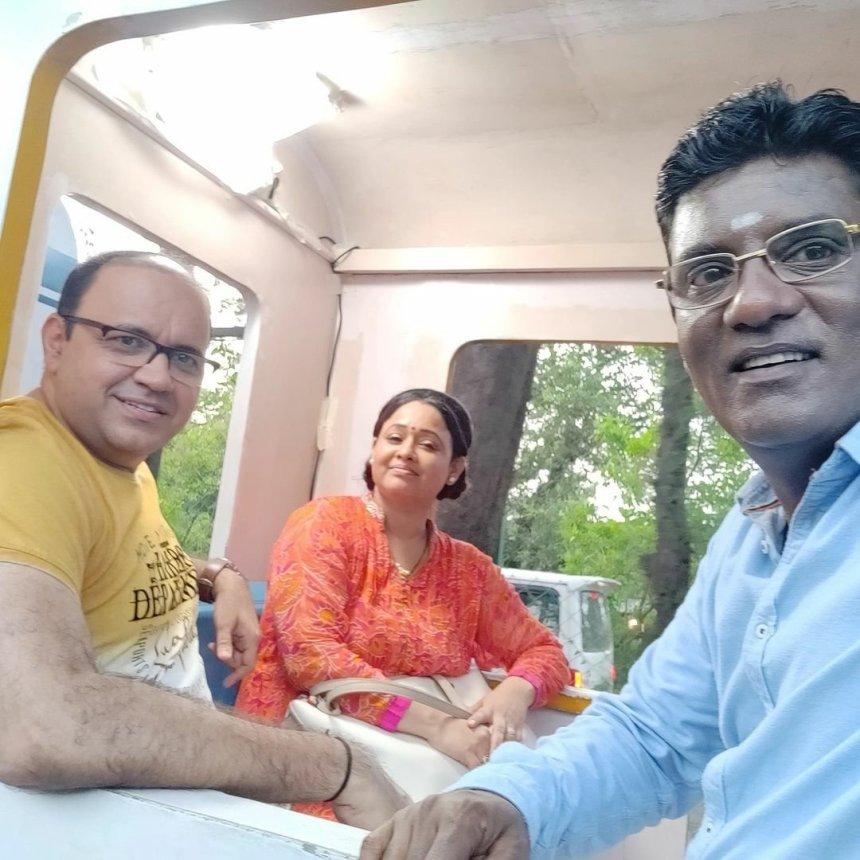 Bhide and Madhuri Bhabhi pictures from the TMKOC resort episode