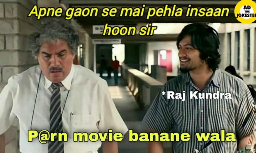 Dank memes on Raj Kundra's police case