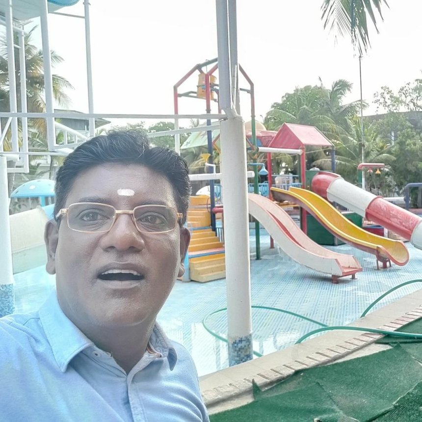 Iyer Bhai in a water park