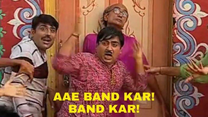 Are Band Kar ! Band kar meme template