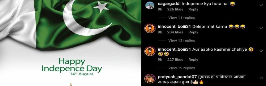 Kamran Akmal Independence day post gone wrong
