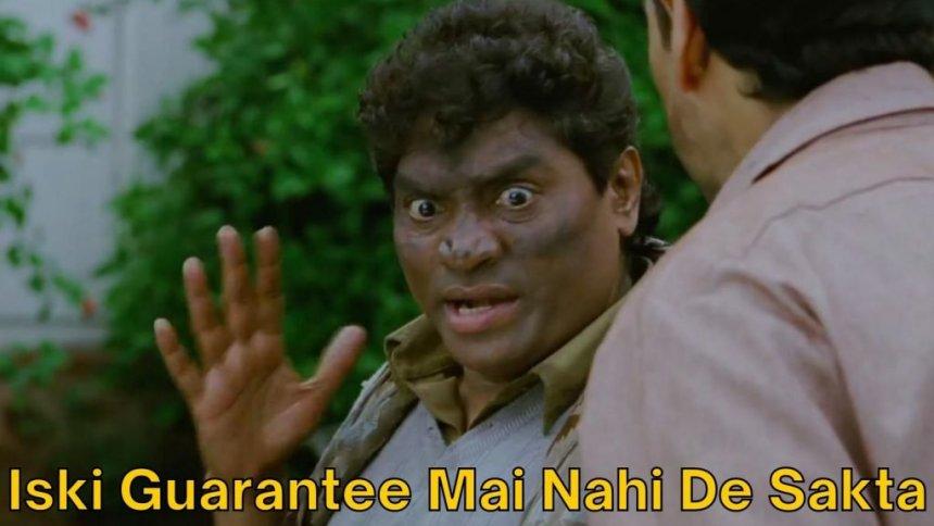 Johnny Lever meme template from Khatta Meetha movie