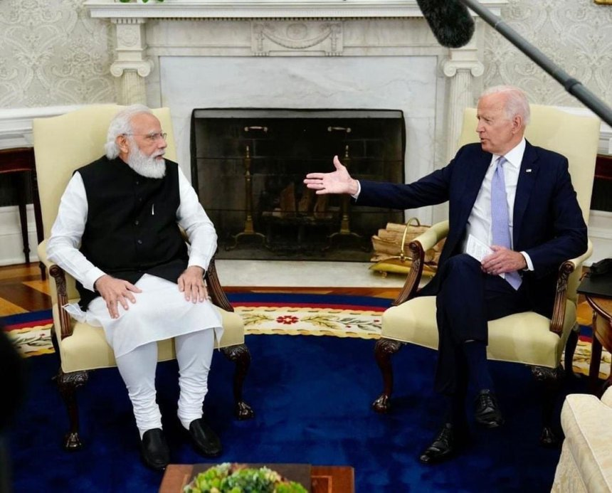 Joe Biden and PM Modi meme template