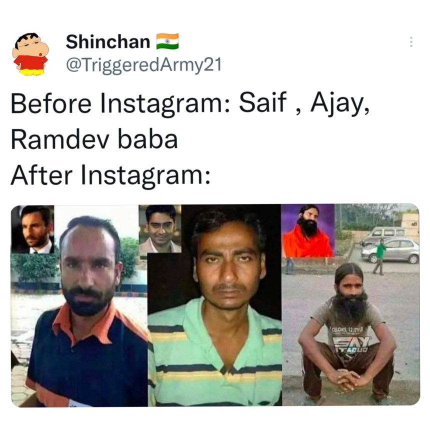 Bollywood Before Instagram After Instagram meme