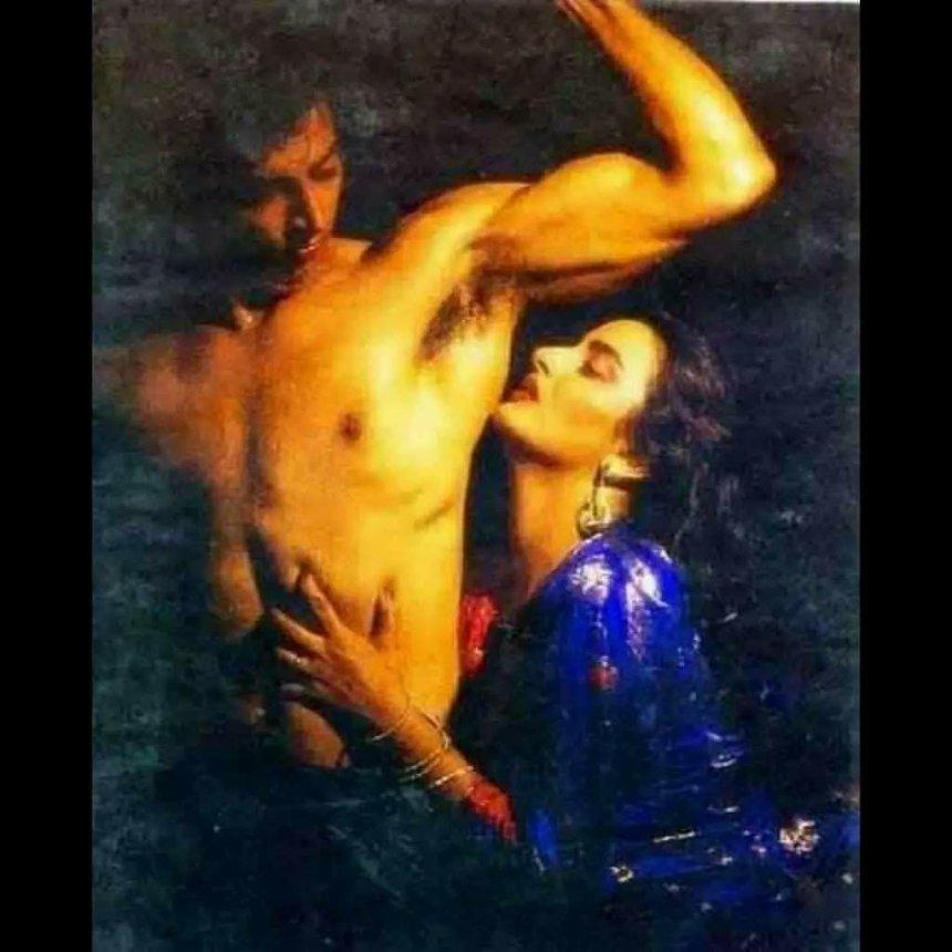 Funny Photoshoot of Bollywood actress Rekha ji