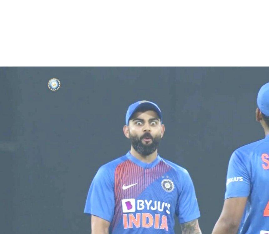 Virat Kohli shocking reaction