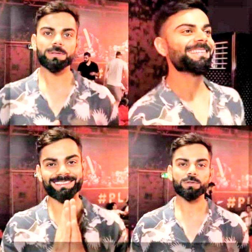 Virat Kohli smiling template