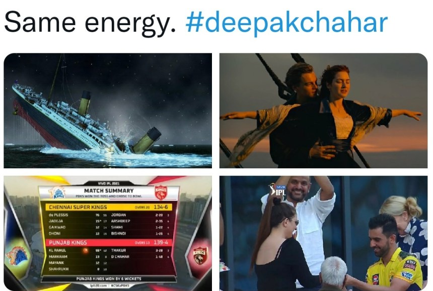 CSK Deepak Chahar memes
