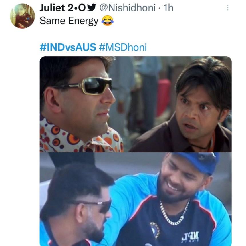 Dhoni and Pant memes
