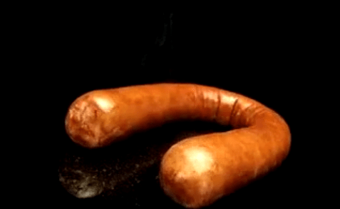 Dildo girl sausage smoked