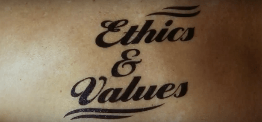 cop-op tattoo advert skull ethics and values