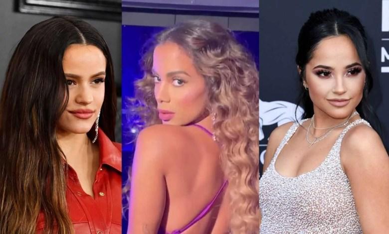Rosalía, Anitta e Becky G (Reprodução/Internet)