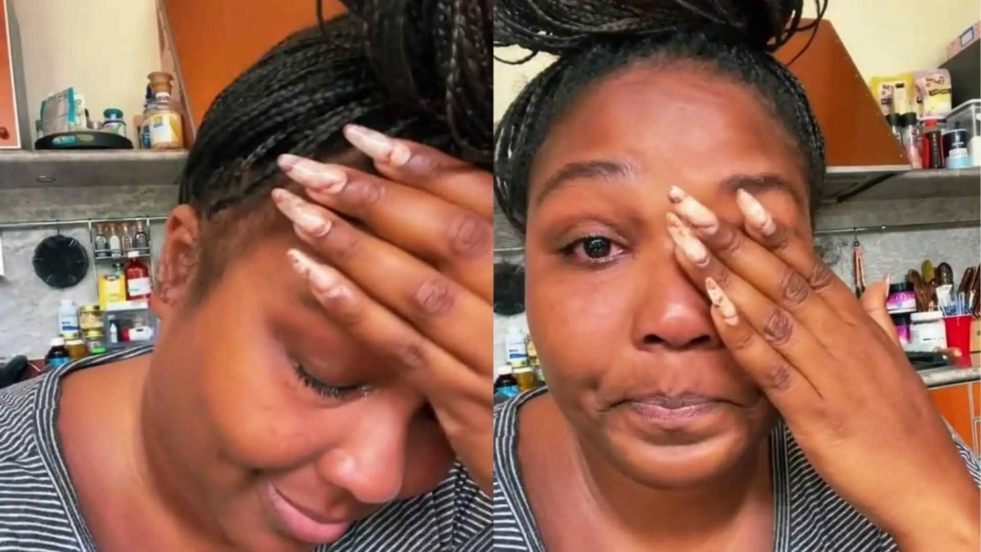 cantora lizzo chora em vídeo compartilhado no tiktok (reprodução)