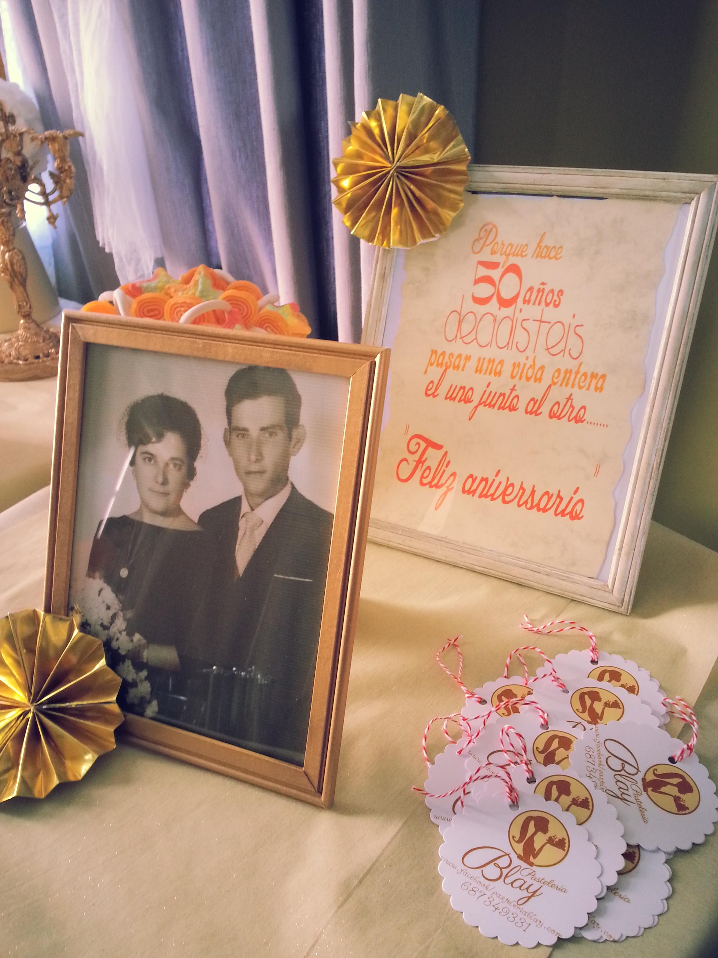 Candy bar para las bodas de oro de Fina y Emilio  Adulcinando