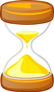 Adult ADHD Unplugged an hour glass with time running out
