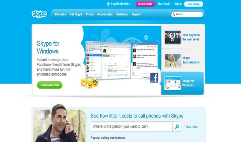 Skype - Layout