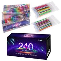 Tanmit 240 Color Gel Pens Set for Adult Coloring Books ...