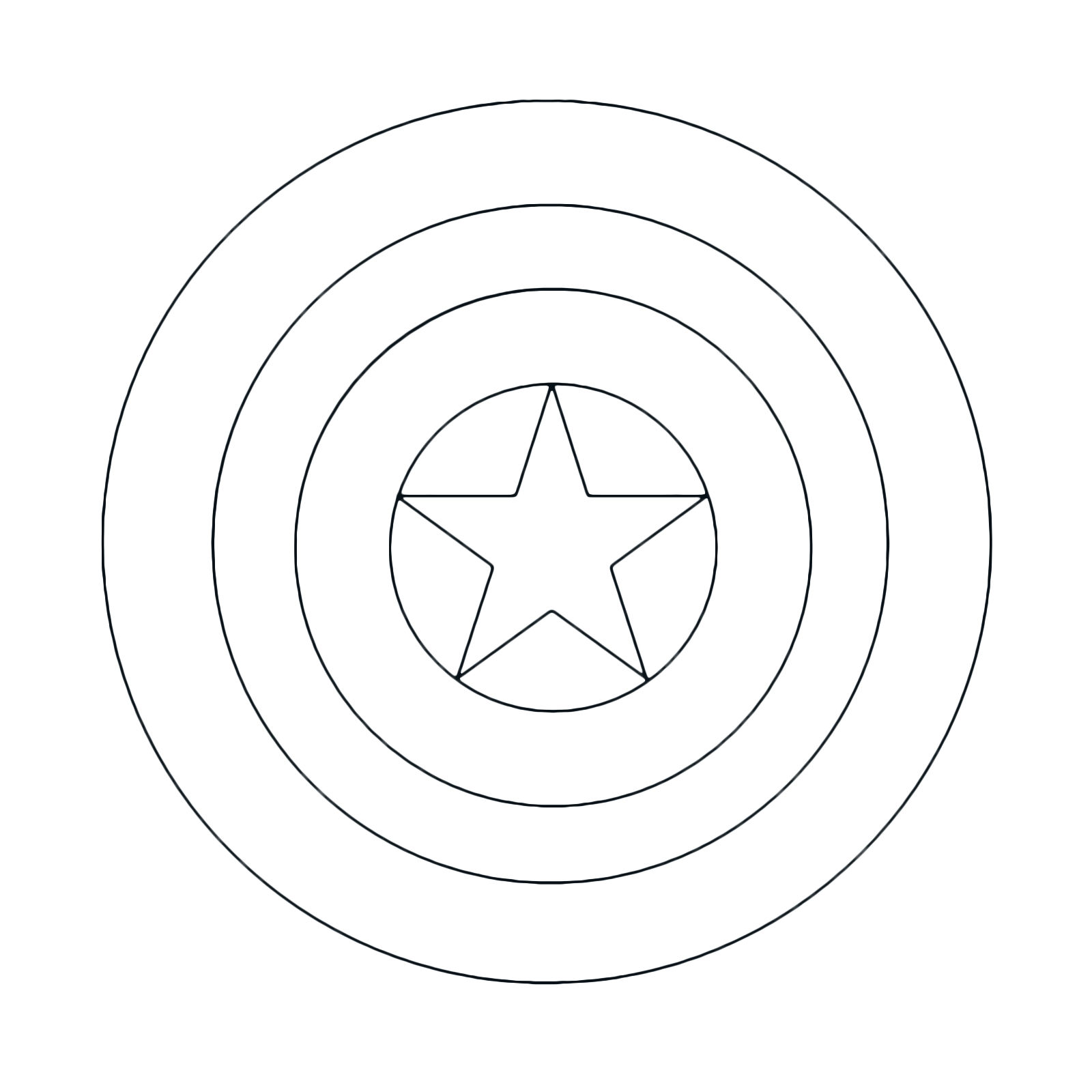 23 Captain America Shield Coloring Page Images