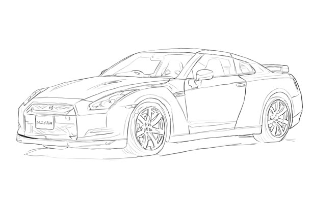 Skyline Gt R R34 Coloring Coloring Pages