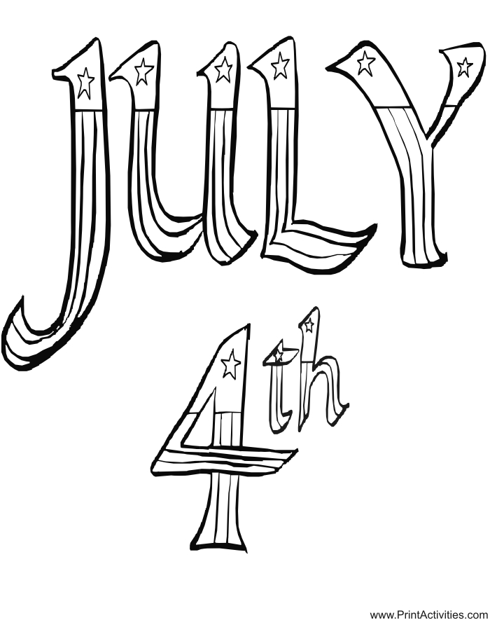 23 Printable July 4th Coloring U0026 Activity Pages For The