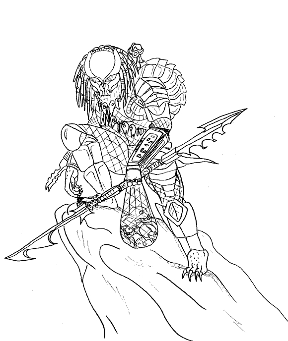 predator coloring pages # 51
