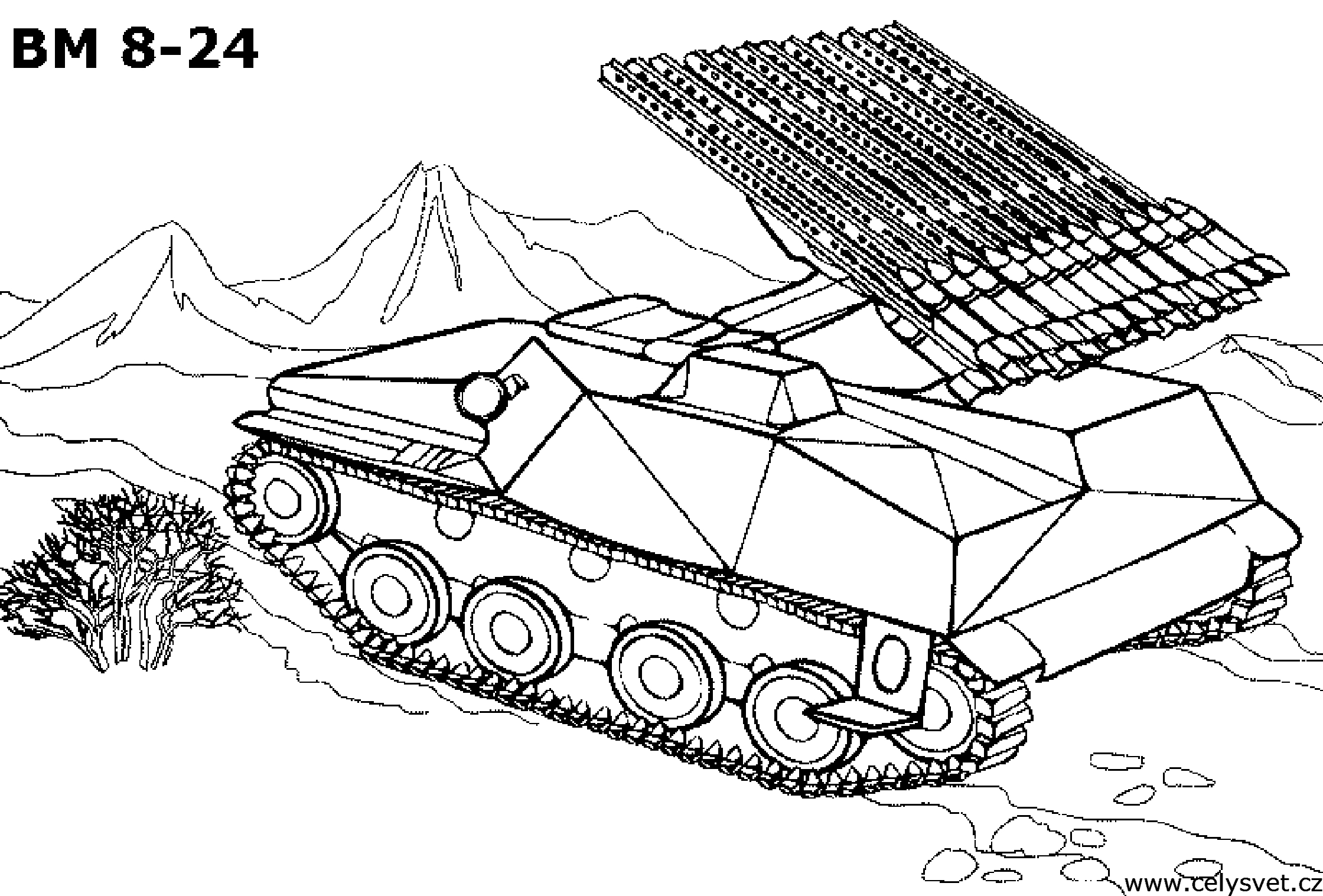 25 Tank Coloring Pages Printable
