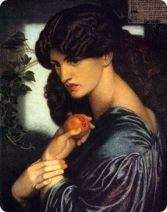 "Proserpine, extract from Dante Gabriel Rossetti's painting, and Jane Burden Morris as ""Proserpine"""