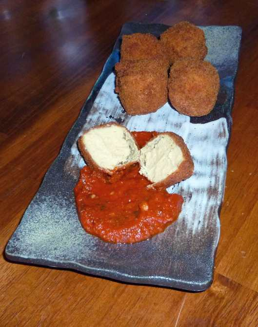 Fried Cheez Nuggets with Marinara Sauce
