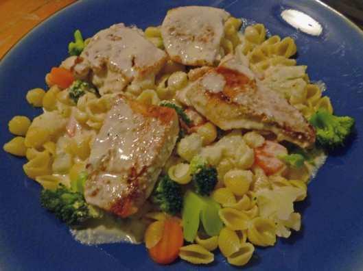 Chicken Primavera Alfredo