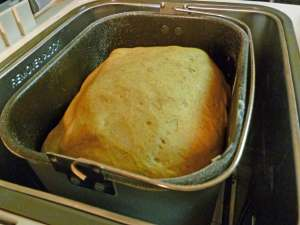 Completed Dough in Bread Pan