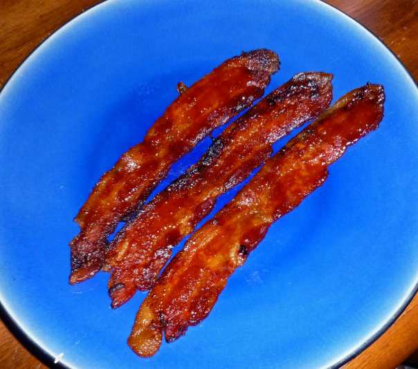 Bacon with Brown Sugar and Sriracha