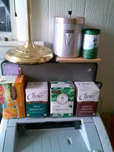 Office Tea Stash (does not include additional plain black tea and a few others in the closet)